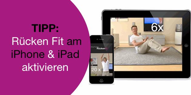 Rückengymnastik für iPhone oder iPad