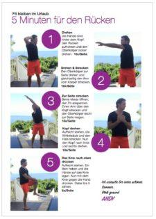 Rückenübungen - Rücken fit im Urlaub